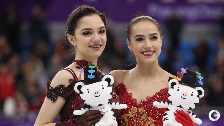 23 февраля. Пхенчхан. Алина Загитова и Евгения Медведева.