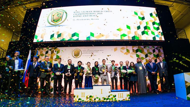 В Санкт-Петербурге завершились чемпионаты мира по рапиду и блицу. Фото Леннарт Отес, wrbc2018.com