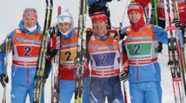 Россияне первые на этапе Кубка мира в лыжной эстафете