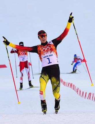 Френцель взял золото в двоеборье.