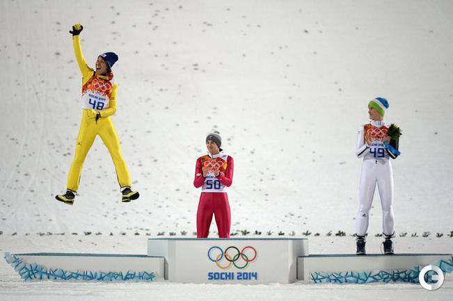 Стох - олимпийский чемпион на большом трамплине