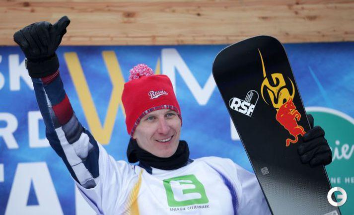 Соболев - чемпион мира в параллельном гигантском слаломе. Фото AFP