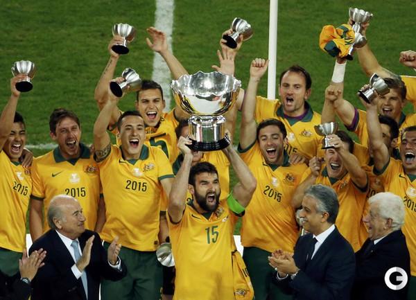 Сборная Австралии - победитель Кубка Азии.