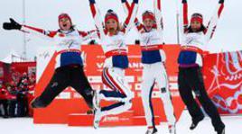 Норвежки выиграли эстафету на чемпионате мира