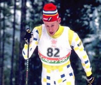 """Гунде Сван на Олимпиаде-88 в Калгари. Фото из архива МОК Фото """"СЭ"""""""