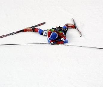 """Суббота. Уистлер. В спринтерской гонке. Светлана СЛЕПЦОВА отдала все силы. Фото AFP Фото """"СЭ"""""""