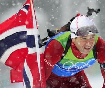 Оле Эйнар БЬОРНДАЛЕН завоевал-таки золото Олимпиады в Ванкувере. Фото AFP