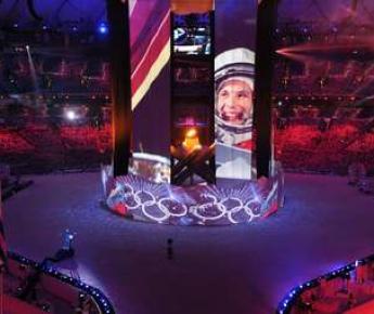 """Сегодня. Ванкувер. Презентация Сочи-2014 на церемонии закрытия Игр-2010 в BC Place. Фото AFP Фото """"СЭ"""""""
