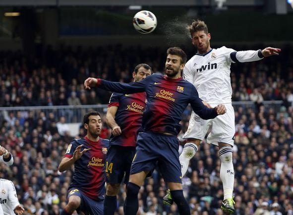 "Суббота. Мадрид. ""Реал"" - ""Барселона"" - 2:1. Победный гол СЕРХИО РАМОСА. Фото REUTERS"