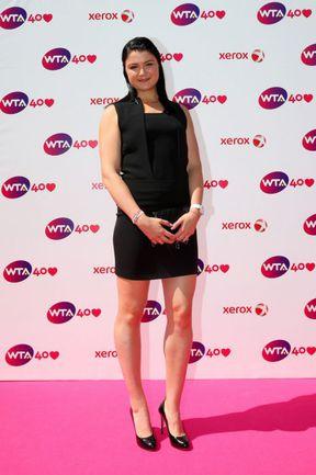 Воскресенье. Лондон. Динара САФИНА на вечеринке в честь 40-летия WTA. Фото - WTA.