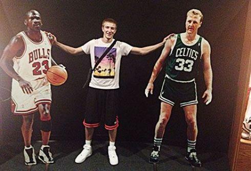 Майкл Джордан, Станислав Крайнов, Ларри Берд. Фото isbl-basket.com.