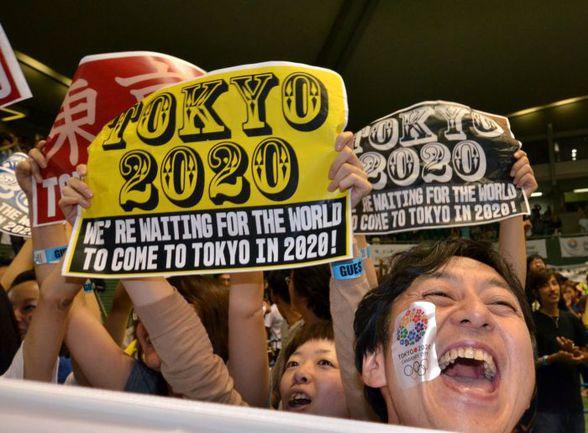 Сегодня. Токио. Японцы празднуют победу столицы своей страны в борьбе за право принять Олимпиаду-2020. Фото AFP