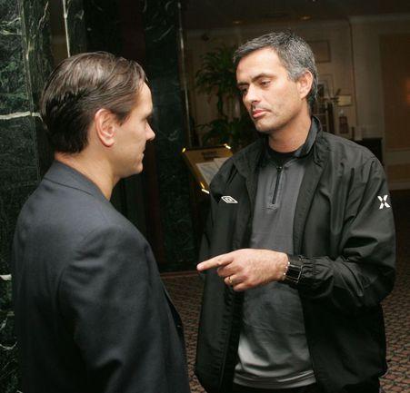 Жозе Моуринью и Дмитрий Аленичев