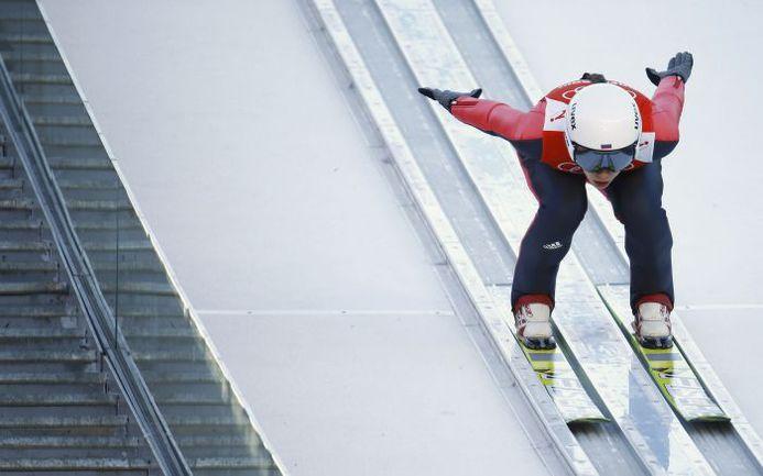 Красная Поляна. Ирина АВВАКУМОВА на предолимпийской тренировке. Фото REUTERS