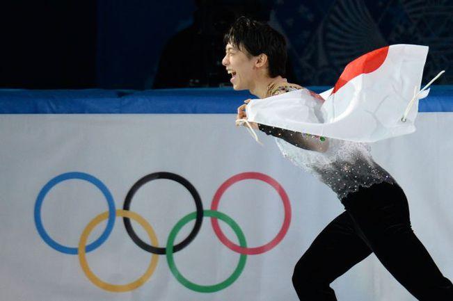 Пятница. Сочи. Олимпийский чемпион в мужском одиночном катании Юдзуру ХАНЮ из Японии. . Фото AFP