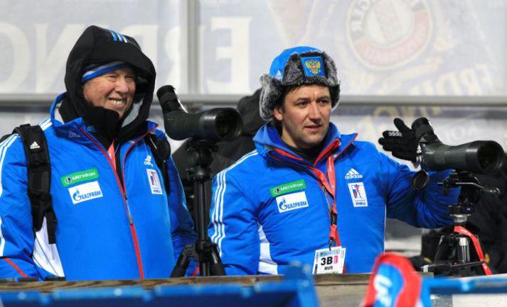 Тренеры женской сборной России Павел РОСТОВЦЕВ (слева) и Вольфганг ПИХЛЕР. Фото Евгений ТУМАШОВ, СБР