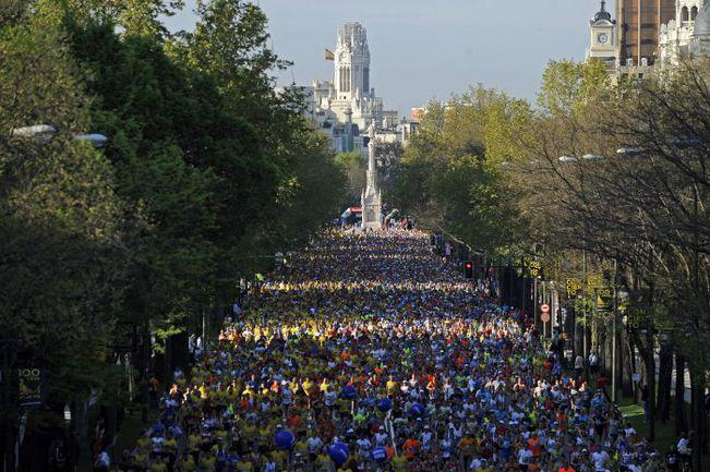 27 апреля Мадрид встретит всех любителей бега под звуки живого рок-н-ролла на ежегодном полумарафоне. Фото AFP