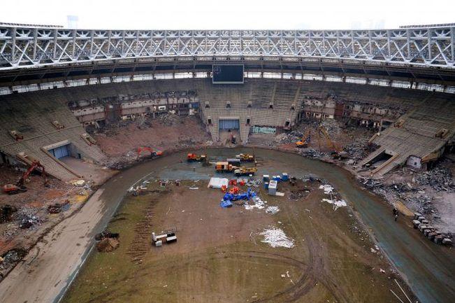"""Москва. Стадион """"Лужники"""": вид"""