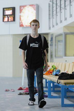 Единственная надежда России в парном синхронном плавании - 19-летний петербуржец Александр МАЛЬЦЕВ. Фото Руслан ШАМУКОВ, ТАСС