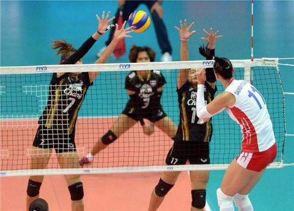 Сегодня. Верона. Россия - Таиланд - 3:0. В атаке Екатерина ГАМОВА. Фото fivb.org