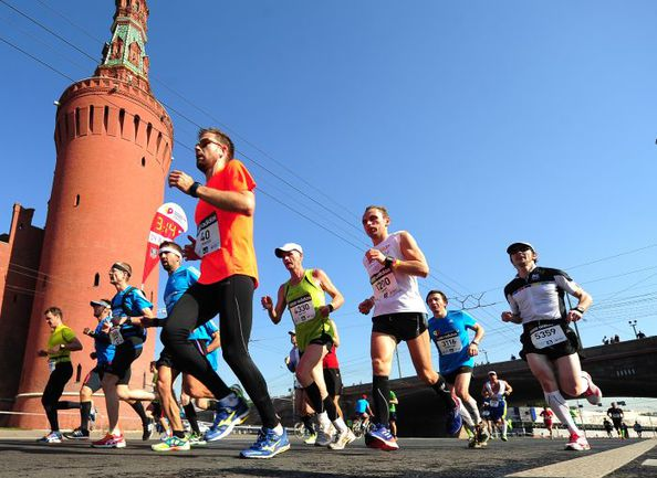 "Московсий марафон. Фото Антон СЕРГИЕНКО, ""СЭ"""