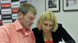 Александр ЗУБКОВ и его дочь Елизавета в редакции