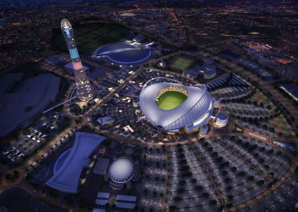 Даже ночная Доха в привычные сроки проведения чемпионата мира - не лучшее по климату место для футбола. И это без политики и коррупции. Фото AFP