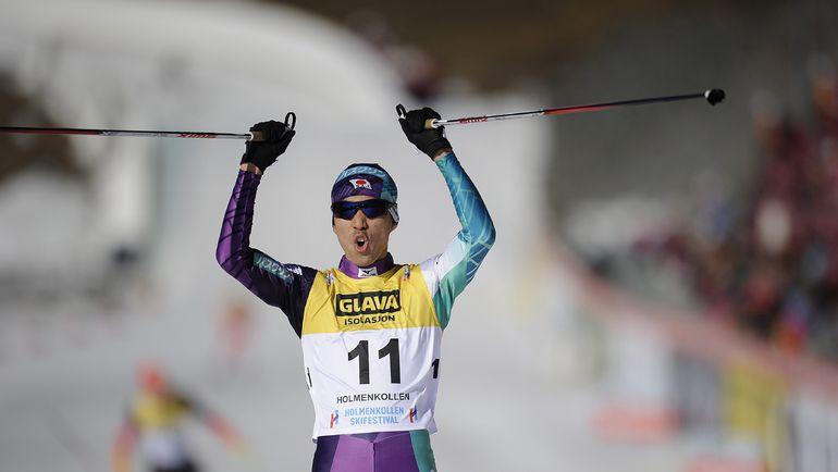 Сегодня. Осло. Акито ВАТАБЕ на финише. Фото AFP
