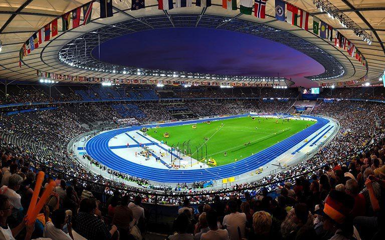 В 2018 году Олимпийский стадион Берлина примет легкоатлетический турнир объединенного чемпионата Европы по летним видам спорта. Фото europeansportschampionships.com