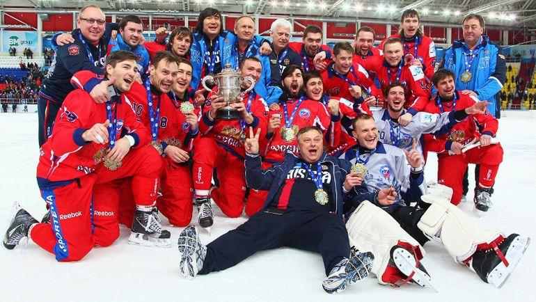 Россия - чемпион мира! Фото bandyvm2015.ru