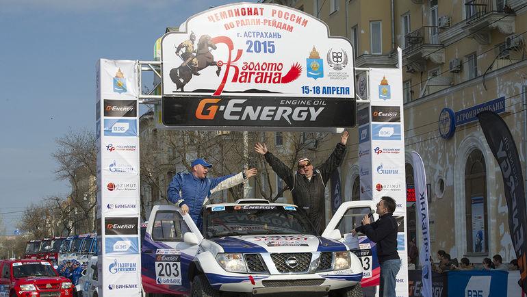 Экипаж Дмитрия Иевлева и Алексея Шапошникова - победитель ралли в классе внедорожников.