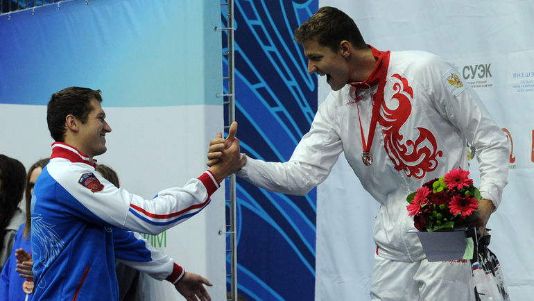 "Александр СУХОРУКОВ (справа) и Никита ЛОБИНЦЕВ. Фото Никита УСПЕНСКИЙ, ""СЭ"""