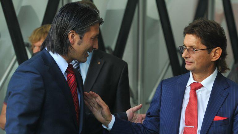Скоро Леониду ФЕДУНУ придется принимать решение, продолжать ли сотрудничество с Муратом ЯКИНОМ (слева).