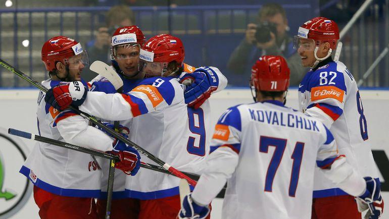 Россия разгромила Белоруссию на ЧМ по хоккею (Видео)