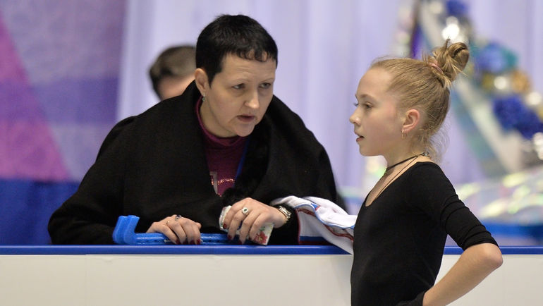 "Инна ГОНЧАРЕНКО и ее ученица Елена РАДИОНОВА. Фото РИА ""Новости"""