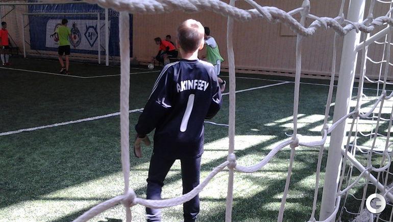 Акинфеев защищает ворота на Турнире дворовых команд