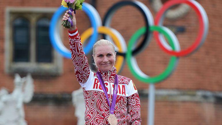 1 августа 2012 года. Лондон. Ольга ЗАБЕЛИНСКАЯ - бронзовая призерка Олимпийских игр. Фото AFP