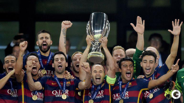 """Барселона"" - обладатель Суперкубка УЕФА."