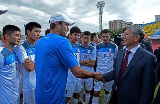 Александр КРЕСТИНИН и президент Киргизии Алмазбек АТАМБАЕВ.