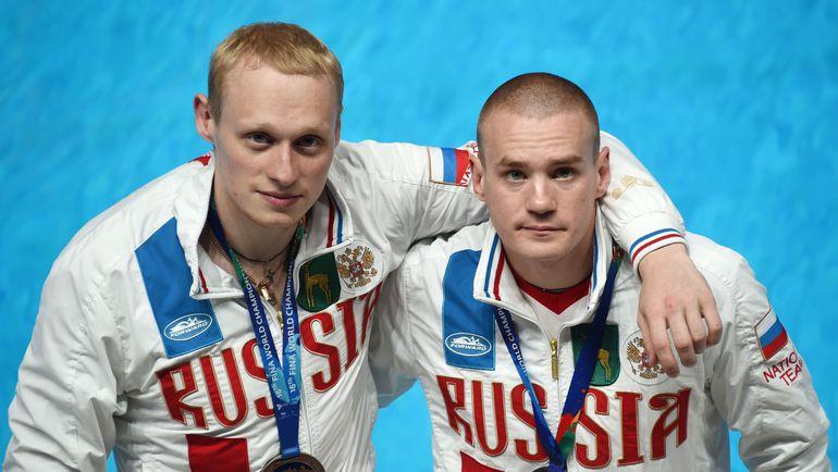Илья ЗАХАРОВ и Евгений КУЗНЕЦОВ на ЧМ-2015 в Казани. Фото AFP