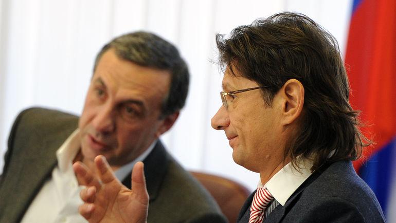 2014 год. Леонид ФЕДУН (справа) и Евгений ГИНЕР.