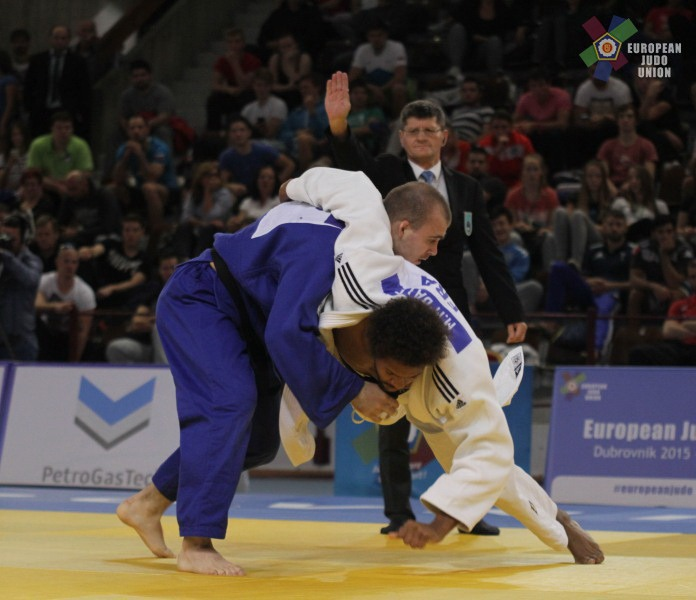 Олег Ишимов стал победителем состязаний в городе Дубровник в весе до 100 кг. Фото Европейский союз дзюдо