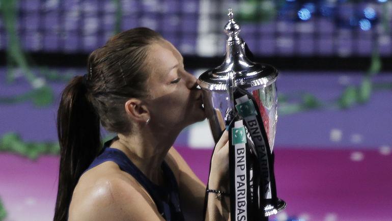Агнешка РАДВАНСКА впервые выиграла WTA Finals. Фото REUTERS