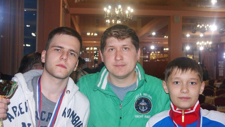 Даниил ЮФФА, Дмитрий КРЯКВИН и Андрей ЕСИПЕНКО. Фото Пресс-служба Российской шахматной федерации
