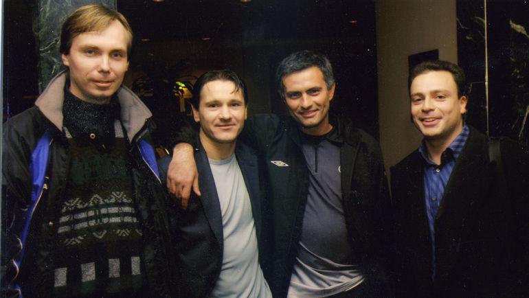 Алексей МАТВЕЕВ, Дмитрий АЛЕНИЧЕВ, Жозе МОУРИНЬЮ и Игорь РАБИНЕР (слева направо).