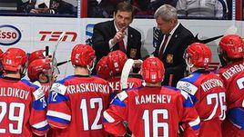 Сегодня. Хельсинки. Россия - США - 2:1. Валерий БРАГИН на скамейке сборной России.