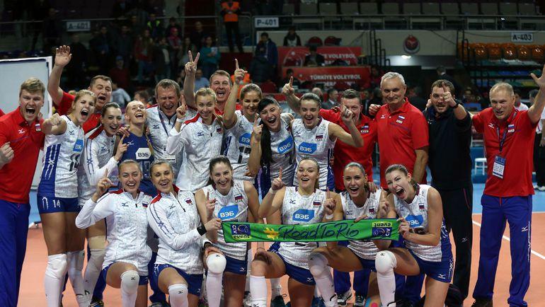Сегодня. Анкара. Россия - Голландия - 3:1. Женская сборная России после победы над командой Голландии. Фото AFP