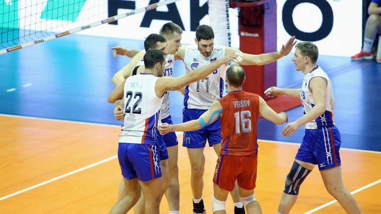 Сегодня. Берлин. Франция – Россия – 1:3. Россияне едут на Игры в Рио. Фото cev.lu
