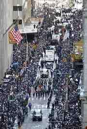 """В Нью-Йорке прошел чемпионский парад """"Янкиз"""" Фото """"СЭ"""""""
