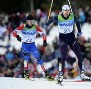 Российский двоеборец Сергей МАСЛЕННИКОВ (слева) и француз Сеастьян ЛАКРУА. Фото AFP
